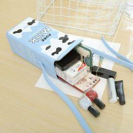 Kreative Milch BoxMilk BoxShoulder Tasche Kinder Mädchen Nette Telefon Geldhalter Tasche Weiche Handtasche