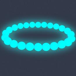 $enCountryForm.capitalKeyWord UK - 10 mm Beads Bracelet Luminous Fluorescent Stone Pearl Night Light Jellery Glow In The Dark For Women Pulsera Antiestres Bijoux