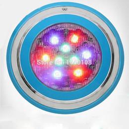 $enCountryForm.capitalKeyWord Australia - 2pcs lot Stainless Steel 9W Swimming Pool Lamp IP68 Led Waterproof Underwater Lights For Ponds RGB Multi-color 12V