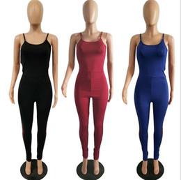 Cheap Wholesale Jumpsuits Australia - Classic Contrast Stripes Stitching Feet Jumpsuit Pure Color Adjust Strap Slim Sports Suit Yoga Soft Wear Cheap Price Enough Stock Plus Size