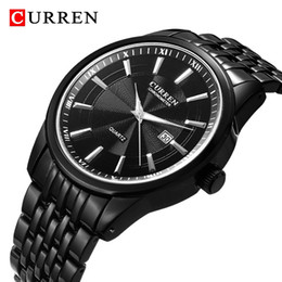 Plastic Wrist Bracelet Watches Australia - CURREN Fashion Men Stainless Steel Analog Quartz Wrist Watch Bracelet men watch stainless steel mesh Male Wristwatches