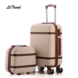 spinner red Australia - Letrend Vintage ABS+PC Rolling Luggage Set Spinner Trolley Women Travel Bag 20 inch Cabin Suitcases Wheel 24 26 inch Retro Trunk