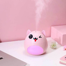 Cute brown bear online shopping - KBAYBO mL USB Water Tank Humidifier Cute Bear Shaped Facial Thermal Sprayer Mist Maker with LED Night Light for Home