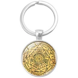 $enCountryForm.capitalKeyWord Australia - MYSTIC MARK ARCHANGEL SEAL FASHION PENDANT KEYCHAIN KEYRING KEY ACCESSORY KEY CHAIN KEY RING CABOCHON PRECIOUS STONE CAR BAG ACCESSORIES
