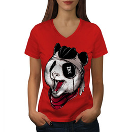 Grey Cotton Trousers Women Australia - Panda Evil Animal Women T-shirt NEW White Black Grey Red Trousers Tshirt RETRO VINTAGE Classic T-shirt