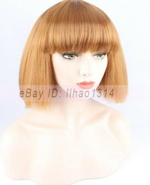 $enCountryForm.capitalKeyWord Australia - Women's Bob Wigs Short Full Hairpiece Full Bangs Puff Kinky Straight Synthetic