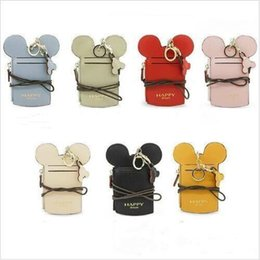 smallest kids phone 2019 - Kids Purse Bags Girls Mouse Ear Wallet Zipper Key Card Holder Coin Purse Child PU Small Phone Money Pouch Kids Shoulder