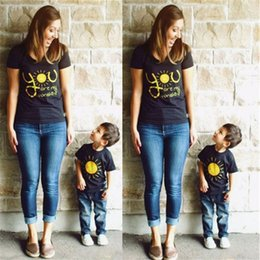 Discount mother daughter tee shirts - Emmababy Family Matching cotton you are sunshine t shirt Outfits Mother Son Daughter Kids Womens T-shirt Tops tee