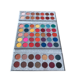 Discount palette shimmer cosmetic 63 Colors Eye shadow palette Foo Face Gorgeous Me makeup for children's stage performance easy to wear DHL Free bri