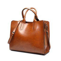 China SWDF hot sale Women Leather Bag Handbags Famous Brands Big Casual Women Bags Tote Spanish Brand Shoulder Bag Ladies Large Bolsos supplier ladies leather handbags sale suppliers