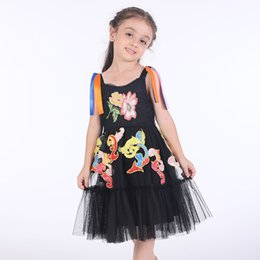 71c43ed77c3 Girls Party Dress Toddler Clothing Flower Embroidery Kids Dresses for Girls  Summer Clothes Princess Lace Dress Children Vestidos