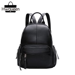 c975ce2f16ea Preppy Designer First Layer Genuine Leather Zipper Closure Girls Travel  Back Pack Soft Cowhide Lady Women Small Casual Backpack