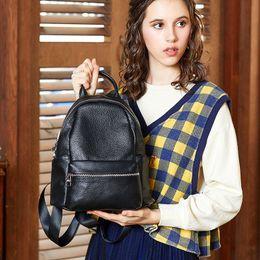 $enCountryForm.capitalKeyWord Australia - Happy2019 Shoulders Both Package Woman Small Back Baotou Layer Cowhide Both Shoulders Package Genuine Leather Woman Package A Bag 9060