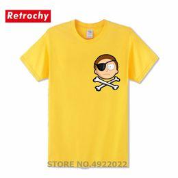 $enCountryForm.capitalKeyWord NZ - Retro Evil Morty Pocket T Shirt Classic Man One Piece Tshirt Casual T-shirt Funny Pirate Morty Design Men Clothes
