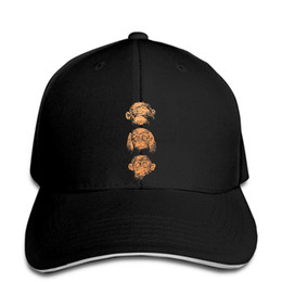Wholesale monkeys funny online – design Baseball Cap Funny Three Wise Monkeys animal life ape Men Snapback hat peaked