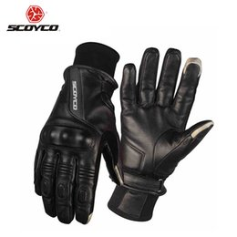 $enCountryForm.capitalKeyWord Australia - SCOYCO Motorcycle Gloves Leather Riding Gloves Motocross Full Finger Long Cycling Racing Guantes Moto Luvas Protective Gear