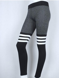 tight sexy yoga pants 2019 - Foreign trade explosion models sexy new hit color letter printing yoga pants women's sports tight female fitness cl