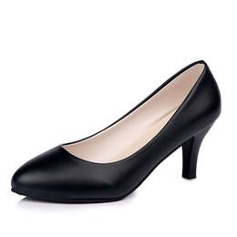 f5f09552b 2019 vestido 2018 novo tamanho grande calçados femininos preto profissional  sapatos de trabalho conjunto pé confortável sapatos de mulheres selvagens