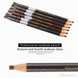 Matte Eyeliner Pens Australia - Makeup Foundation Eyeliner 1818 Pull Eyebrow Pencil With Anti-Counterfeiting Film Studio Special Pull Pen Waterproof School Makeup Pen