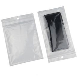 $enCountryForm.capitalKeyWord UK - 100pcs lot 9*12cm reopen zipper bag-white transparent BOPP pearlised film ziplock bag, resuable pack coffee bean cookie storage pouch