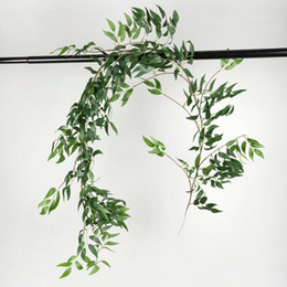 $enCountryForm.capitalKeyWord UK - 170cm Wedding Ceiling Winding Road Layout Rattan Hotel Window Decoration Artificial Flowers Willow Vine Faux Foliage Wreath C19041701