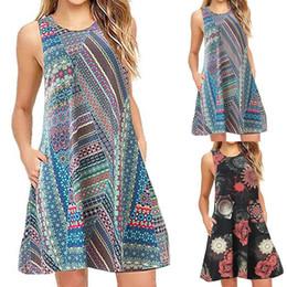 T Shirts Models Australia - New Explosion models 2019 spring and summer women's sleeveless loose casual back zipper T-shirt dress