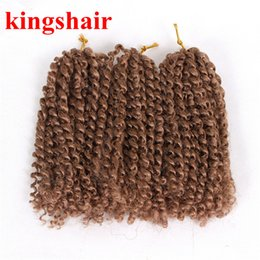 $enCountryForm.capitalKeyWord Australia - 8 Inch Synthetic Afro Kinky Curly Crochet Braids Hair Ombre Kanekalon Malibob Crochet Hair Heat Resistant Short Braiding Twist