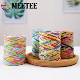Decorative Paper Rolls Australia - Meete Colorful Roll Paper Rope Mix Color Decorative Cord Creative Woven Baking Tape DIY Handmade Craft webbing BD283