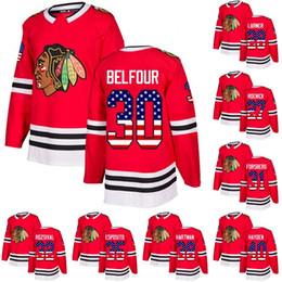 blackhawks flag 2019 - Chicago Blackhawks USA Flag Jersey 30 Cam Ward 2 Duncan Keith 40 John Hayden 12 Alex DeBrincat 42 Gustav Forsling Hockey