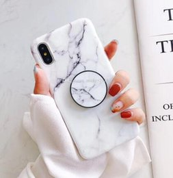 $enCountryForm.capitalKeyWord Australia - Marble pattern Phone Case holder sockets Anti-fall soft TPU phone cases with airbag Bracket for iPhone XS MAX XR X 8 7 6S Plus Free Ship