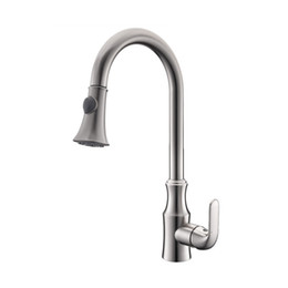 $enCountryForm.capitalKeyWord UK - Kitchen Faucet Pull out Cold And Hot Water Mixer Sink Faucet Deck Mounted Single Handle Brass Kitchen Tap Gold Chrome Brushed