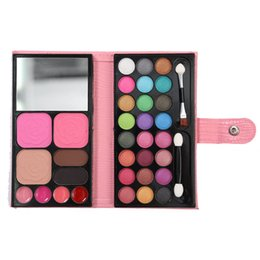 Chinese  Mini Wallet Eyeshadow Makeup Set Portable Mirror Eye Shadow Palette Kit 33 Colors Professional Cosmetic Matte Nude Eyeshadow Set with Brush manufacturers