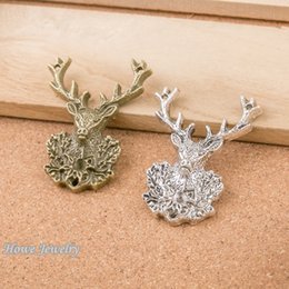 $enCountryForm.capitalKeyWord Australia - Fashion Jewelry Charms 12pcs vintage antlers deer charms fit for Pendant European Style DIY jewelry