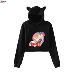 $enCountryForm.capitalKeyWord Australia - FAIRY TAIL print Women Streetwear fashion Basic Navel Hoodies Sweatshirt Popular Casual cool Cat Ear Hoodies Sweatshirts