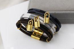 Fashion Bracelets Flower Design Australia - 2019 Brand Design Bracelets Fashion Round Genuine Leather Bracelets with Gold Bag For Women and Men Flower Print Bracelet Jewelry