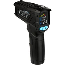 Termómetro digital Medidor de humedad Termómetro infrarrojo Medidor de higrómetro Pirómetro Pantalla LCD Pirómetro Alarma alta / baja (envío gratis) en venta