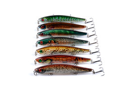 Discount painting fishing lures Lifelike Painted Laser crankbaits pencil Fishing lure 7colors 9.3cm 7.9g 3-D Lipless Bionic fish bass bait