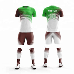 Men Short Sets Polyester Australia - Custom Print Kids Football Jerseys Sport Kit Clothing Men Soccer Jersey Set Uniforms Tennis Shirts Shorts jersey uniform