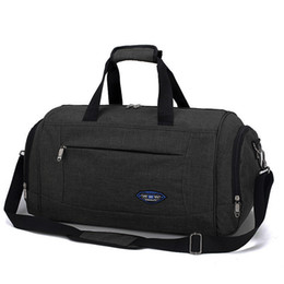 Casual Carry Bags Australia - Men Travel Handbag Weekend Carry On Large Capacity Portable Luggage Duffle Bag Male Casual Black Shoulder Travel Bag Tote
