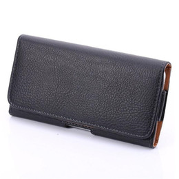 leather belt holster case Canada - Universal Horizontal Man's PU Leather Holster cellphone Waist Pouch Case with Belt Clip for iphone samsung huawei 4.7 to 6.3inch Cellphone