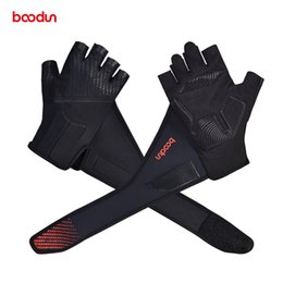 professional gear NZ - Professional Gym Gloves with Lengthen Wrist Belt Protection Antislip Shockproof Weight Lifting Training Fitness Sport Gloves
