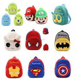 $enCountryForm.capitalKeyWord NZ - Baby Plush Backpacks Kids Backpack School Bag Cartoon Avengers Super Mario Bros Captain America Iron Man Spider-Man Mini School Bag For Kids