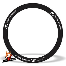 Cycling Road Rims Australia - 700C 50mm rim wheel sticker Road bicycle stickers cycle reflective road wheels decal for bontrageraeolus 5