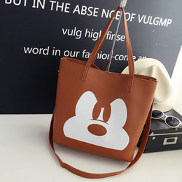 $enCountryForm.capitalKeyWord Australia - Mouse lady cartoon shoulder messenger bag fashion handbag clothing high capacity storage gift bag