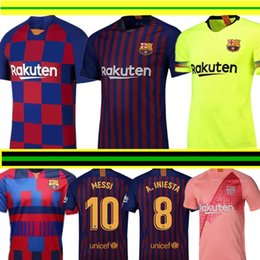 db45a8ede41 2019-2020 Barcelona MESSI Soccer Jerseys Suárez A.INIESTA DEMBELE COUTINHO Soccer  Shirts Barcelona football uniforms WOMEN man Kids Kits