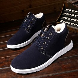 warms boots NZ - Plus Thickening Autumn Winter Outdoor Leisure Men Boots Warm Tooling Cotton Shoes England Boots Men's Shoes Snow Boots 2018 New
