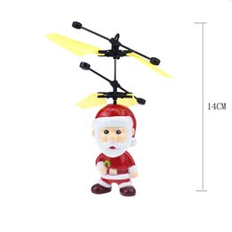 led glow ball lights Australia - Electric Infrared Sensor Flying Ball Christmas Santa Claus Helicopter LED Light Charging Toys Christmas Gift #40