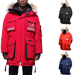 Wholesale jackets expedition resale online – Snow Parka Goose Fur Jackets Men Warmcoat Hoodie Men Winter Down Jacket Expedition Jacket Winter Coats Men Parka Peutere E10