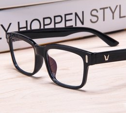 a34ff2b86ca 2018 V-Shaped Logo eye glasses frames for women korean glasses frames Men  Spectacle Optical Frame brand eyeglasses prescription eyewear