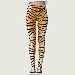 Sexy White Tight Clothes UK - Skin pants Tiger stripes tight skinny Sexy show bight elastic fastness gym woman clothing Sport wear Fitness sportwear Exercise trousers